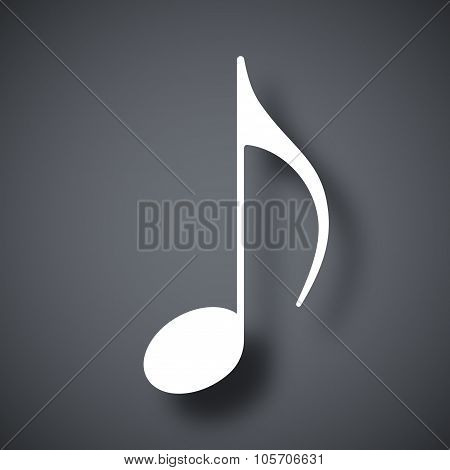 Music Note Icon, Vector