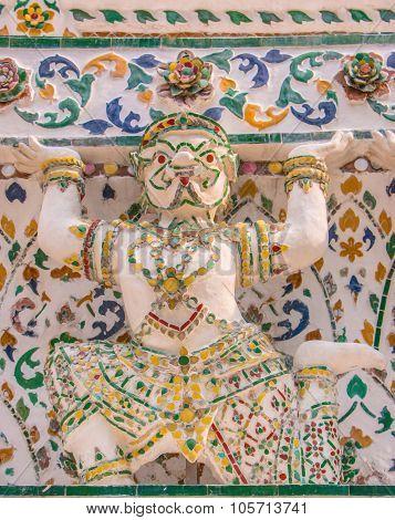 Hanuman pagoda base pattern in wat arun.