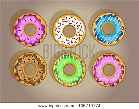 Vector Tasty Donuts