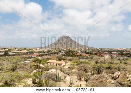 Single Mountain Rising On Aruba