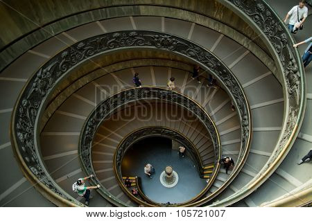 Spiral Stairs In The Vatican Museums