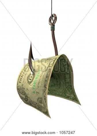 Money On A Hook - Concepts And Symbols 3D