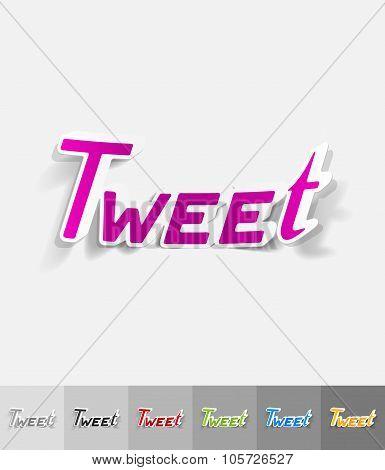 realistic design element. tweet