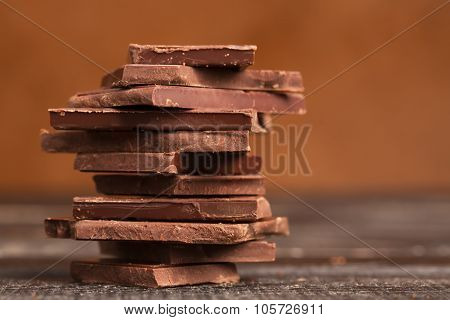 Pile Of Dark Chocolate