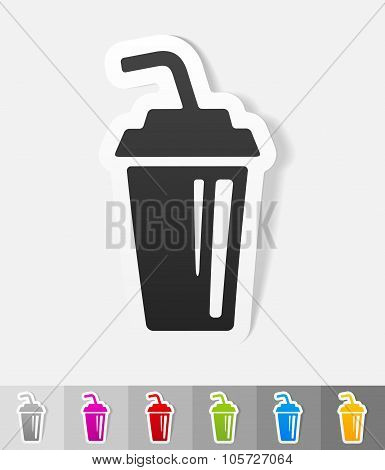 realistic design element. glass beverage