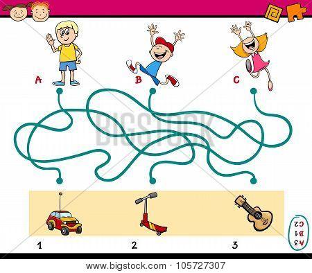 Maze Puzzle Educational Task