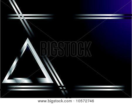 Um azul profundo e cartão de prata