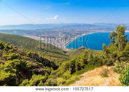 Panoramic View Of Loutraki, Greece