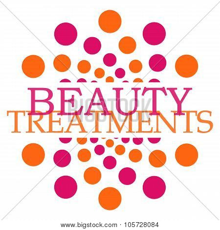 Beauty Treatments Pink Orange Dots Circular