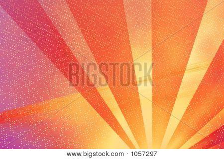 Digital Background - Orange Rays