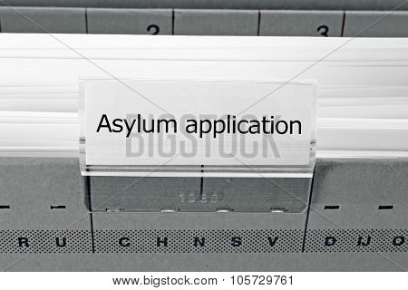 Hanging File Folder - Asylum Application