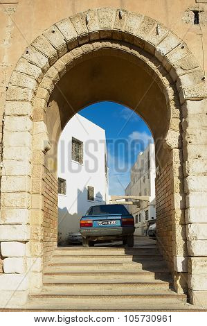 View to one of the gates of the medina in Sfax, Tunisia.