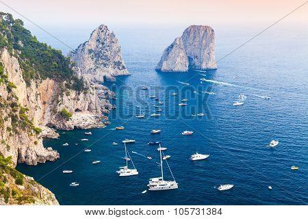 Capri Island, Italy. Mediterranean Sea Coast