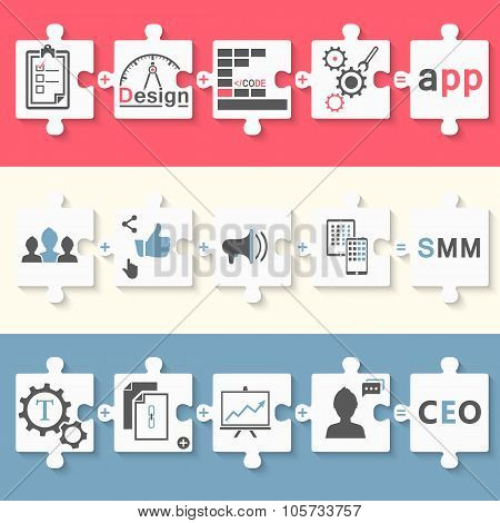 Infographics Set Of App SEO And SMM