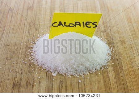Sugar, calories concept