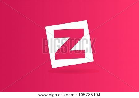 Abstract Z character vector logo icon. Power z vector, z letter logo, design studio, square shape, box, z logo icon, company z logo, abstract logo, design element, creative idea. Company logo