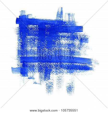 Blue Paint Abstract Background