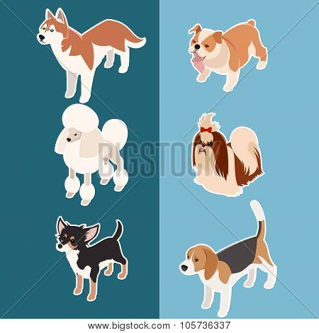 Collection of isometric dogs3