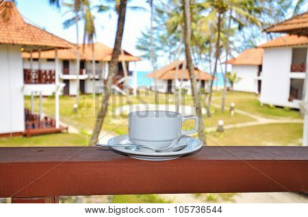 Coffee At The Balcony Facing Seaside At The Resort