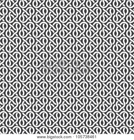 Seamless pattern of parallel braids