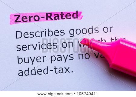 Zero Rated