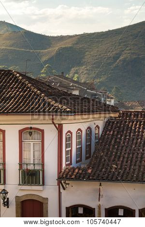 Antique houses in Ouro Preto, Minas Gerais, Brazil