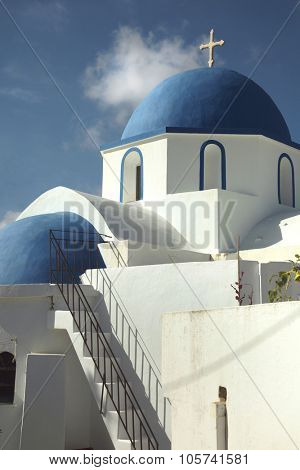 Beautiful church in Kostos, on Paros island in Greece