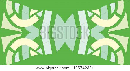 Abstract Bow Tie Over Green