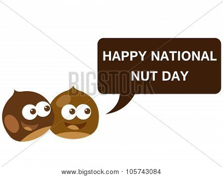 Happy national nut day cartoon version 4