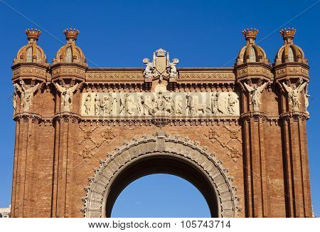 Arch Of Triumph In Barcelona, Spain.