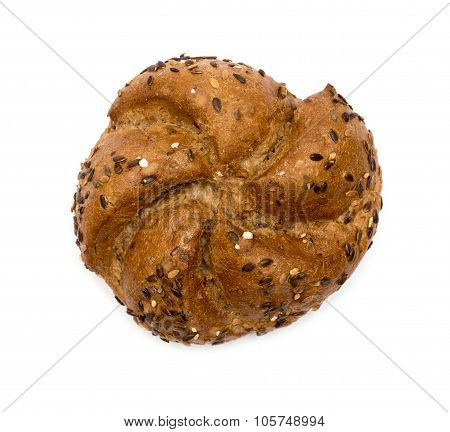 single crusty bub isolated on white background