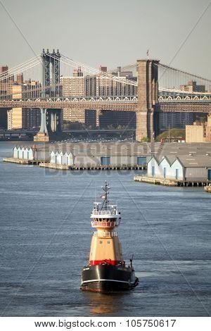 Tugboat In New York City
