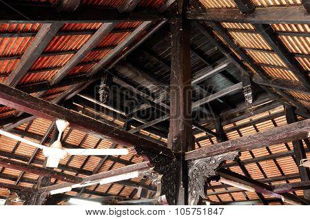 Architectural detail of Masjid Kampung Laut at Nilam Puri Kelantan