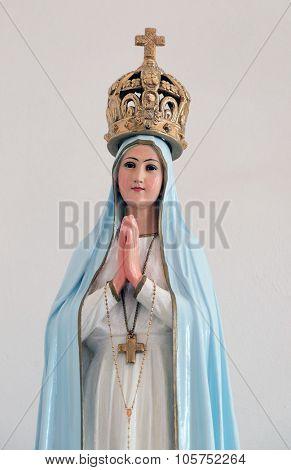 LIPIK, CROATIA - MAY 07: Our Lady of Fatima statue in the Church of Saint Francis of Assisi in Lipik, Croatia on May 07, 2015