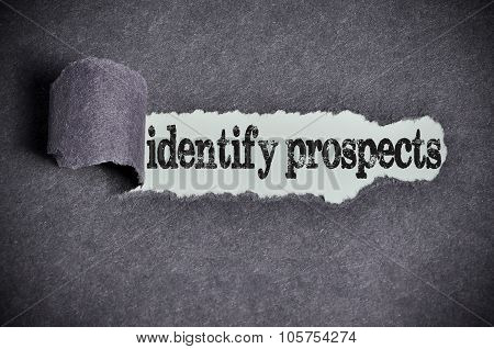 Identify Prospects Word Under Torn Black Sugar Paper