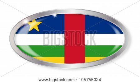 Central African Republic Flag Oval Button