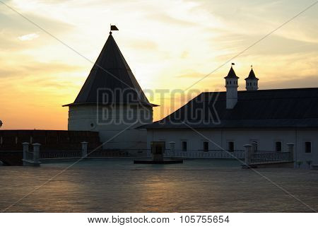 Kazan, Republic Tatarstan, Russia - May, 2014:  Evening View Of The Kazan Kremlin