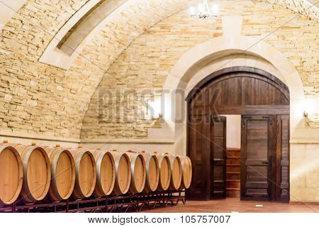 Wood wine barrels