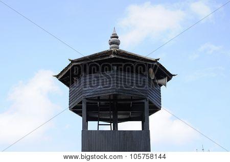 Minaret of Kampung Laut Mosque at Nilam Puri Kelantan, Malaysia