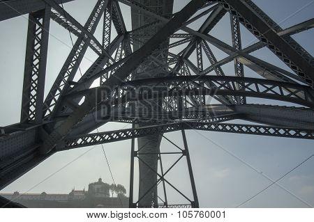 Europe Portugal Porto Ribeira Ponte De Dom Luis