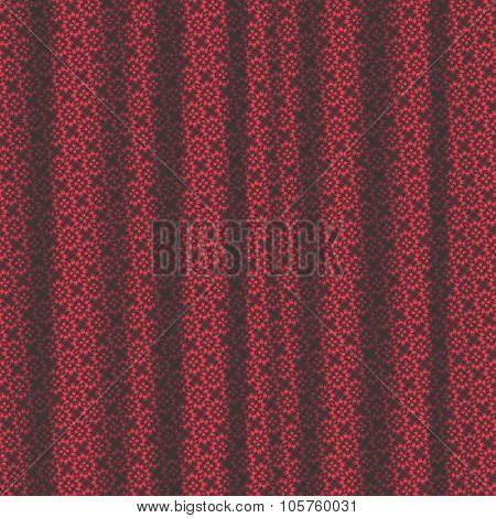 Red Pattern Drapery Seamless Background Texture.
