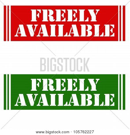 Freely Available-stamps