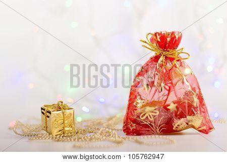 Christmas Sack, Gift And Garland