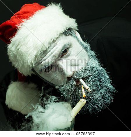 Smoking New Year Man