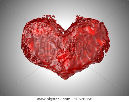 Love - Red Liquid Heart Shape