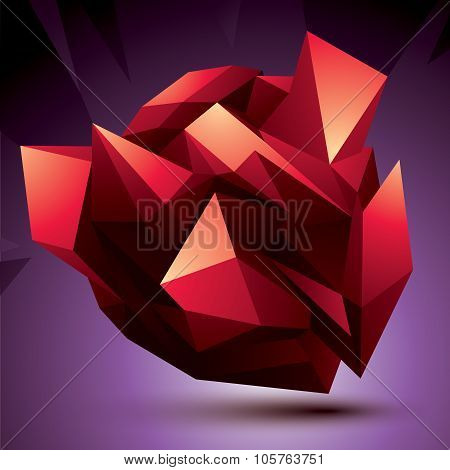 3D Contemporary Style Abstract Object, Cybernetic Futuristic Form. Technology Idea.