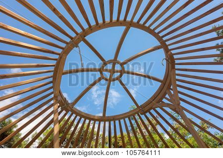Constructing A Yurt, Called A Ger