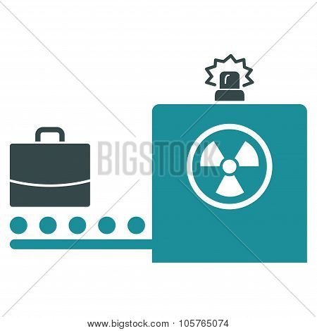 Baggage Screening Flat Icon