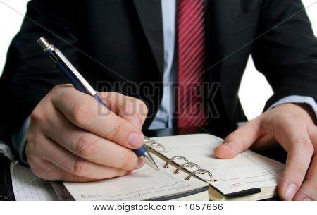 Businessman And A Agenda
