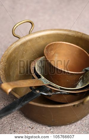 Old Copper Cooking Pots